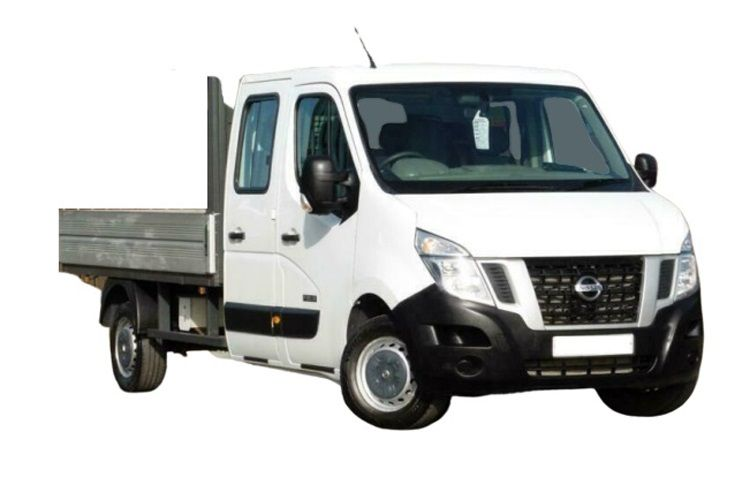 Nissan NV400 L3 35 FWD 2.3 dCi FWD 135PS Tekna Dropside Double Cab Manual front view