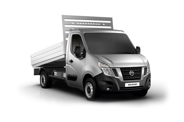 Nissan NV400 L2 35 FWD 2.3 dCi FWD 150PS Acenta Tipper Auto [Start Stop] front view